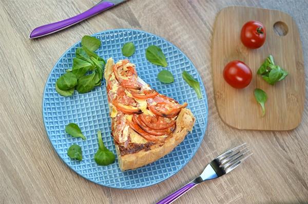 Betteraves crues + Tarte provençale & salade + Fromage blanc framboise