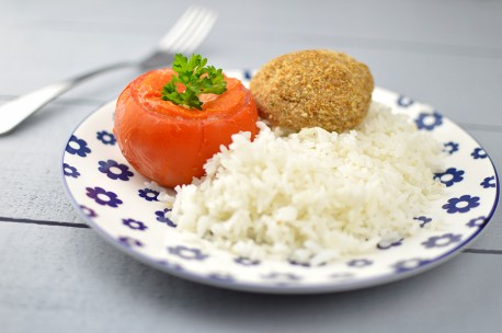 Tomate farcie & riz
