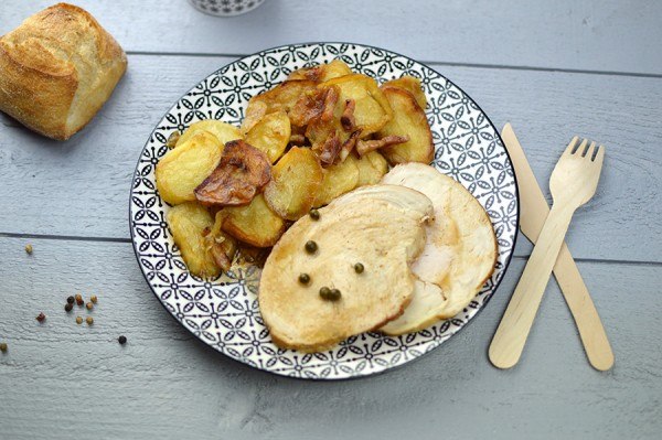 Salade niçoise + Rôti de dindonneau & pommes de terre à la lyonnaise
